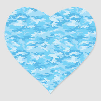 Camouflage Heart Sticker