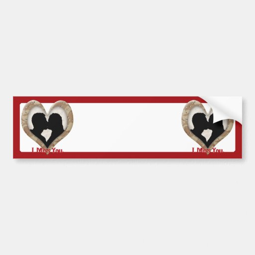 Camouflage Heart with Kissing Couple Bumper Stickers