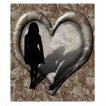 Camouflage Heart - Woman Missing Man Photo Cutouts