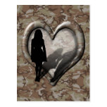 Camouflage Heart - Woman Missing Man Postcard