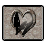 Camouflage Heart - Woman Missing Man Posters
