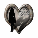 Camouflage Heart - Woman Missing Man (w/Text) Acrylic Cut Outs