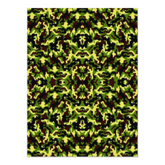 Camouflage in the Third! (jungle green) ~ 17 Cm X 22 Cm Invitation Card