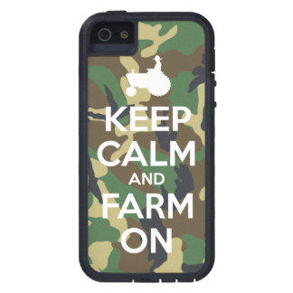 Camouflage Keep Calm and Farm On iPhone 5 Cover