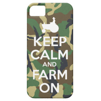Camouflage Keep Calm and Farm On iPhone 5 Case
