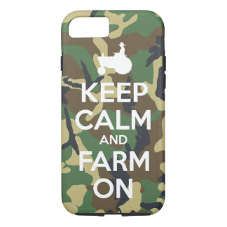 Camouflage Keep Calm and Farm On iPhone 7 Case