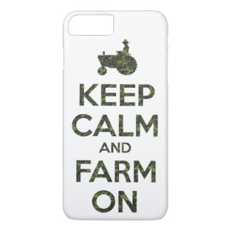 Camouflage Keep Calm and Farm On iPhone 7 Plus Case
