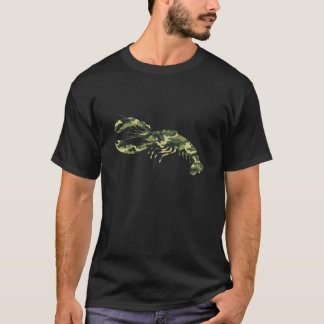 Camouflage Lobster Silhouette T-Shirt