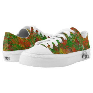 Camouflage Low Top Printed Shoes