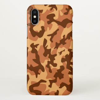 Camouflage military como print army orange iPhone x case
