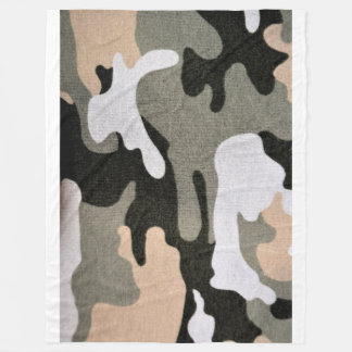 Camouflage, military fleece blanket