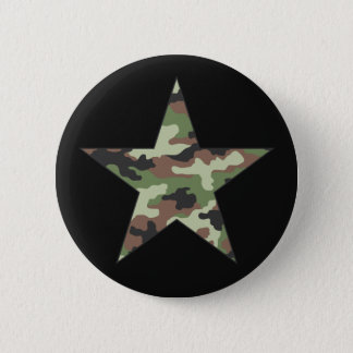 Camouflage Military Star 6 Cm Round Badge