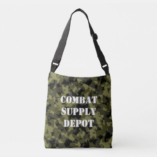 Camouflage military style crossbody bag