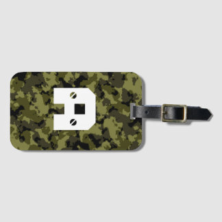 Camouflage military style luggage tag