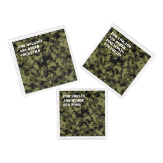 Camouflage military style pattern acrylic tray