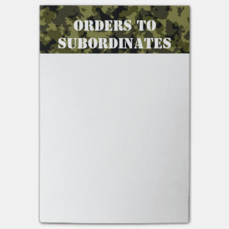 Camouflage military style pattern post-it® notes