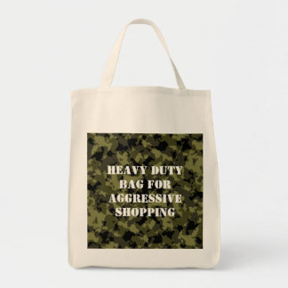Camouflage military style pattern tote bag