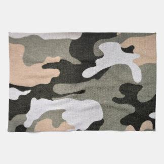 Camouflage, military tea towel