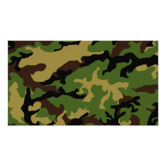 'Camouflage Military Tribute' Poster