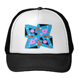 CAMOUFLAGE - MODERN ABSTRACT COLORFUL X DIAMOND CAP