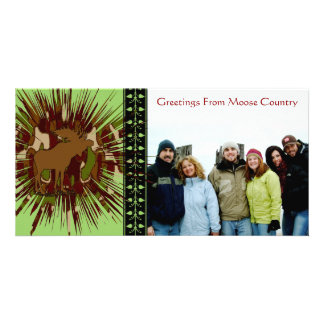 Camouflage Moose Break-out Camo Personalized Photo Card