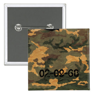 Camouflage Muster 15 Cm Square Badge