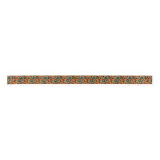Camouflage Orange Hunter Satin Ribbon
