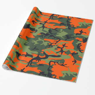 Camouflage Orange Hunter Wrapping Paper