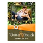 Camouflage Orange Hunting Camo Wedding Invitations 13 Cm X 18 Cm Invitation Card