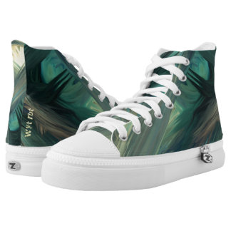 Camouflage painted seascape Urban Hype Printed Shoes