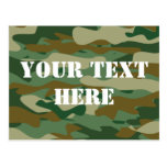 Camouflage pattern design postcards | Personalised