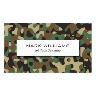 Camouflage Pattern Pack Of Standard Business Cards