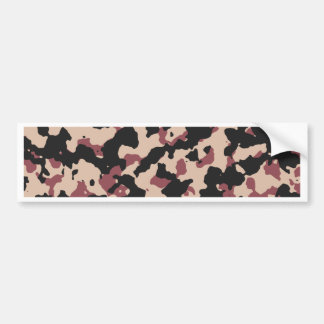 Camouflage Pattern PANTONE  Marsala Toasted Almond Bumper Sticker