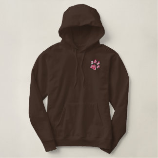 Camouflage Paw Print Embroidered Hoodie