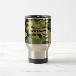 Camouflage Personalize It Travel Mug