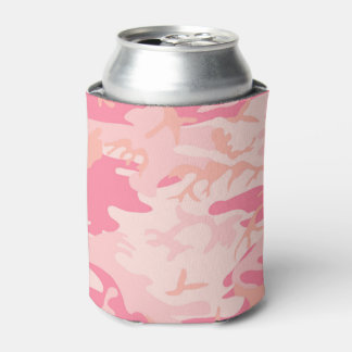 Camouflage Pink Colour Can Cooler