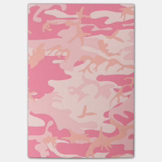 Camouflage Pink Colour Post-it Notes