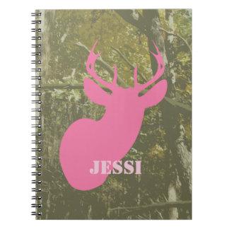 Camouflage & Pink Deer Spiral Notebook
