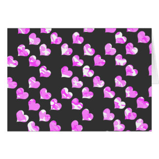 Camouflage Pink Hearts Card