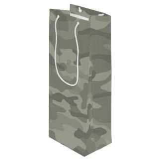 Camouflage Print Wine Gift Bag