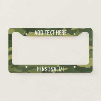 Camouflage Print with Custom Add 2 Lines Text