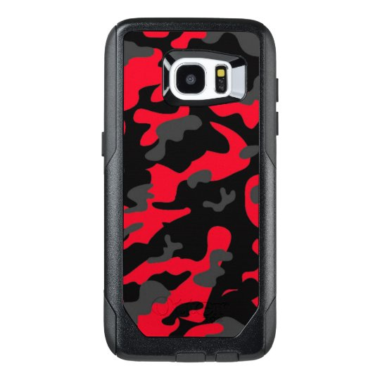 Camouflage Red Black Como Army Military Print OtterBox