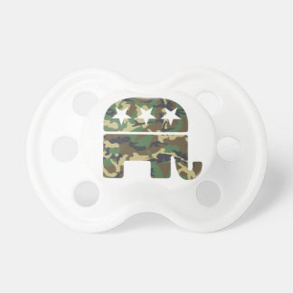 Camouflage Republican Elephant Pacifier