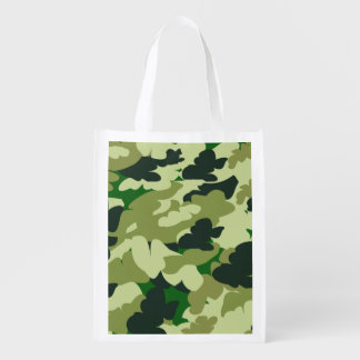camouflage reusable shopping bag grocery bag