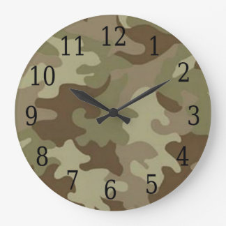 Camouflage Round Clock