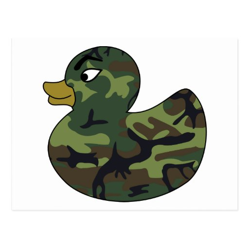 Camouflage Rubber Duck Postcards