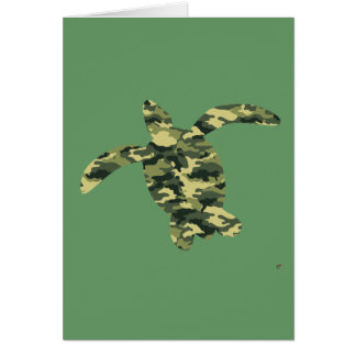 Camouflage Sea Turtle Silhouette Card