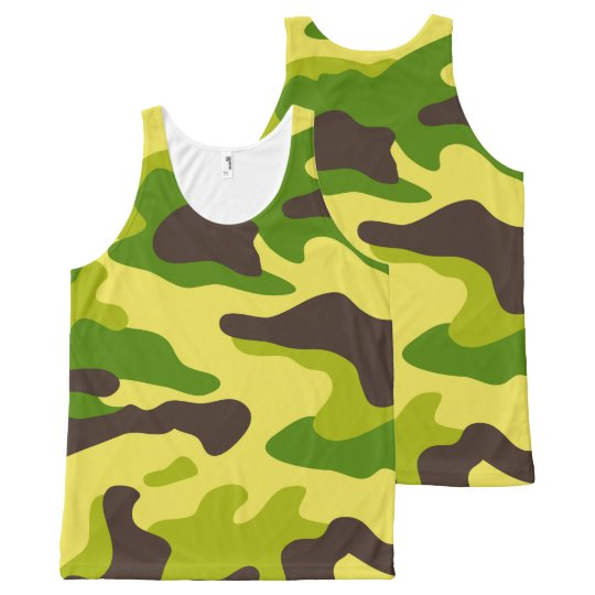 Camouflage seamless color pattern All-Over print tank top