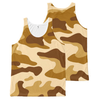 Camouflage seamless pattern All-Over print tank top