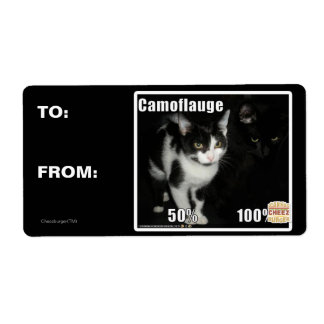 Camouflage Shipping Label